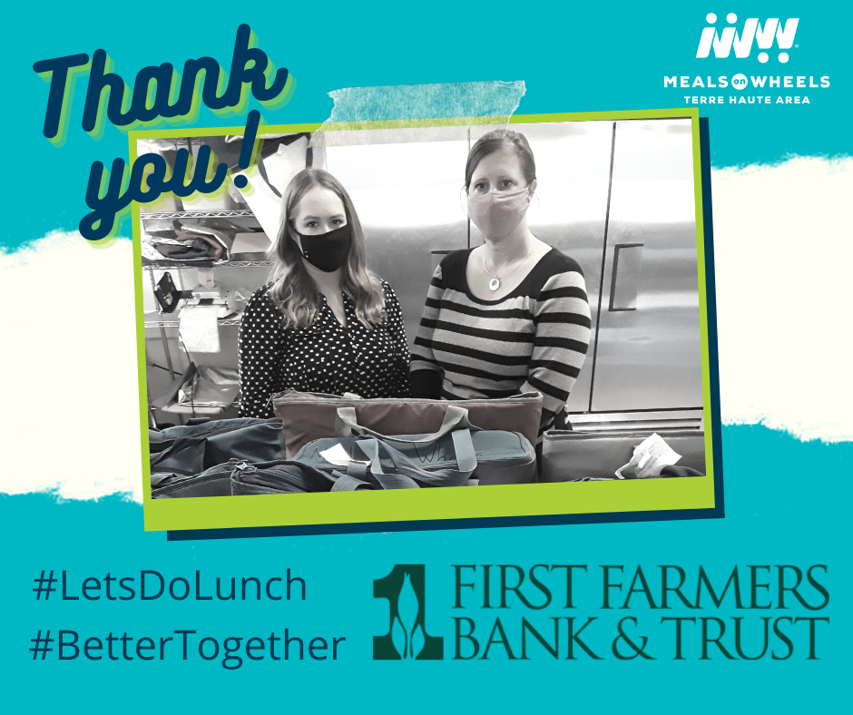 First Farmer's Bank & Trust team drives for us every Tuesday, providing staff from multiple branches to cover the route.