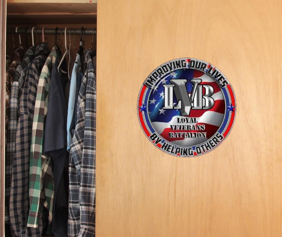 The Loyal Veterans Battalion allow us access to their clothing closet when any of our clients have a clothing need.